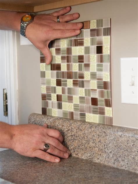 Self Stick Kitchen Backsplash by How To Install A Backsplash How Tos Diy