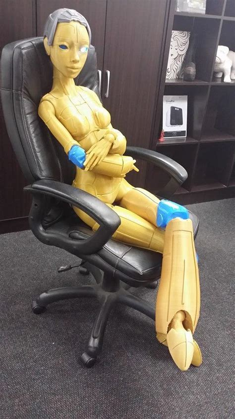 jointed doll robot south company 3d prints sized fully