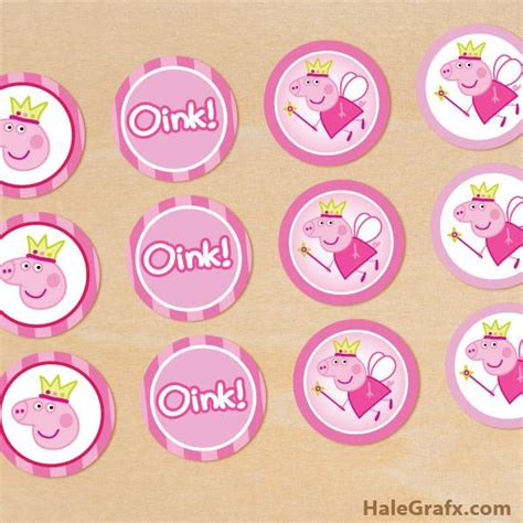 printable peppa pig party decorations peppa pig cupcake toppers free printable lilah 4th b day