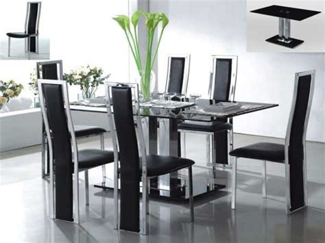 Modern Glass Dining Room Sets | contemporary glass dining table sets best contemporary