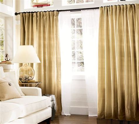 Dining Room Curtains Pottery Barn Pottery Barn Silk Drapes Wheat Interiors