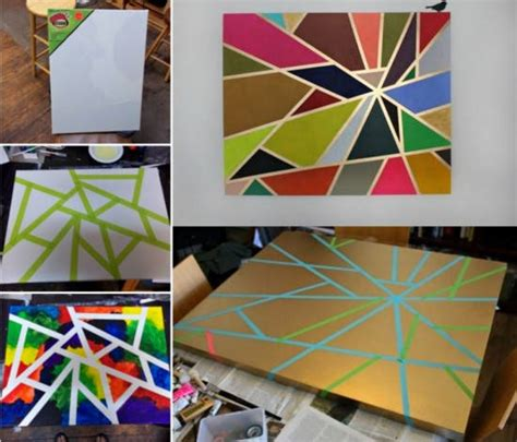 Easy Tape Painting Step by Step   UsefulDIY.com