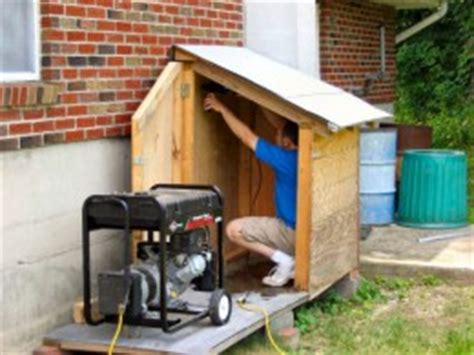 Diy Generator Shed by How To Build A Generator Enclosure