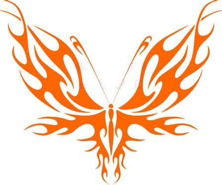 简单时尚的蝴蝶图腾手稿
