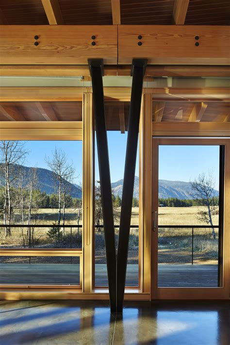 crafted mountain cabin appears   lighter  air