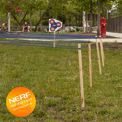 Backyard Obstacle Course Ideas Nerf Obstacle Course Nerfrebelleparty Houseparty Pinterest Nerf