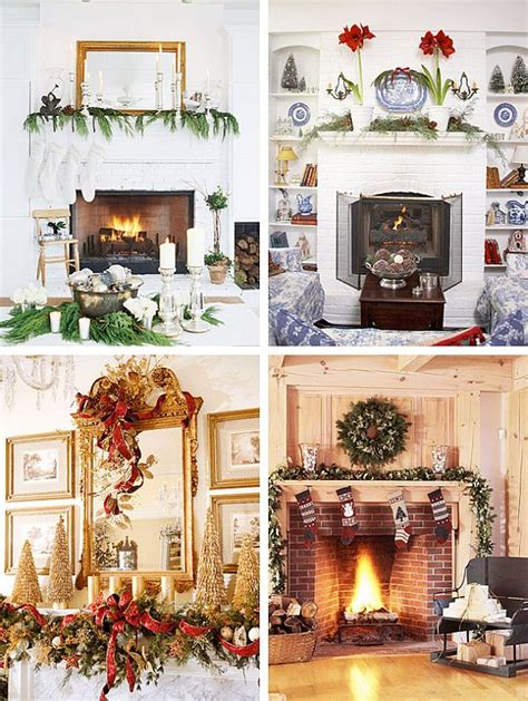 christmas fireplace decorating ideas 40 christmas fireplace mantel decoration ideas