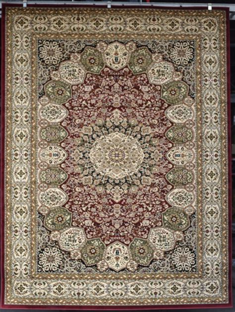 Burgundy Green Beige Black 8x10 Persian Carpet Area Rugs 8x10 Rug