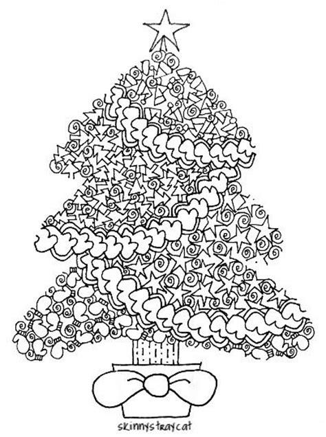 christmas zentangle coloring page tree zentangle christmas templates printables