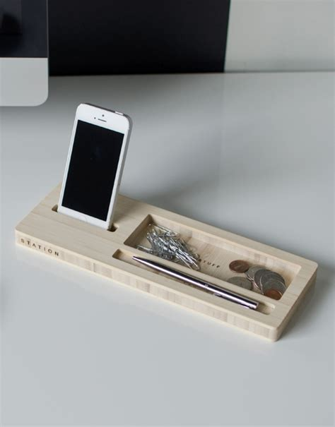 iphone desk phone dock station modern bamboo desk caddy