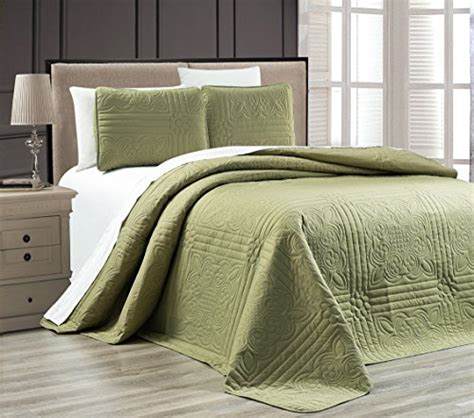 organic quilts and coverlets need 3 piece sage green oversize stella grande bedspread