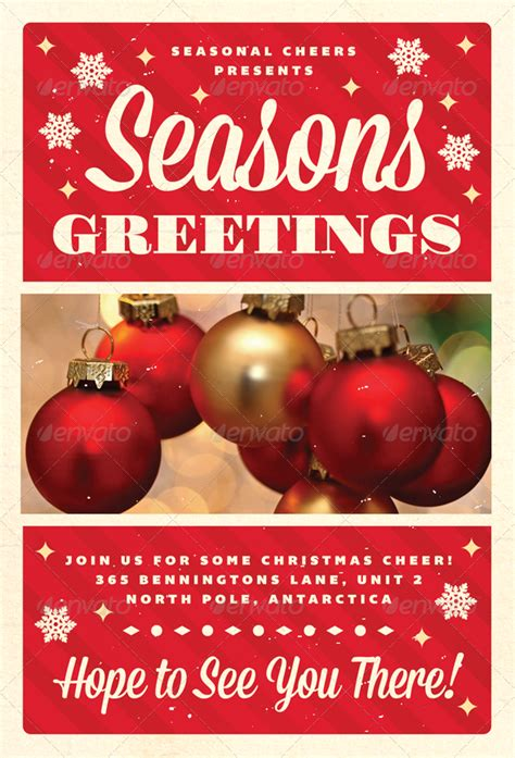 christmas flyer templates free greetings christmas flyer template by furnace graphicriver