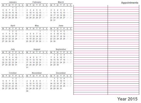 printable whole year calendar 2015 printable calendar 2015 171 home life weekly
