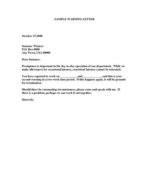 sample warning letter employee tardiness amulette