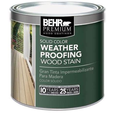 behr premium  oz white base solid color weatherproofing