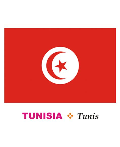 tunisia flag coloring pages for kids to color and print