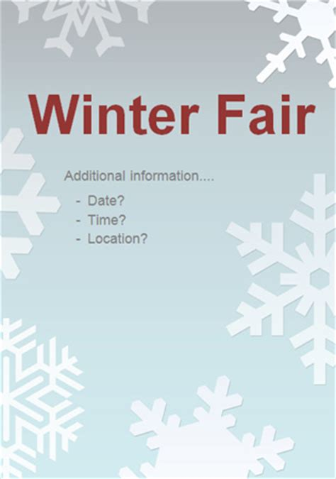 early learning resources editable winter fair poster