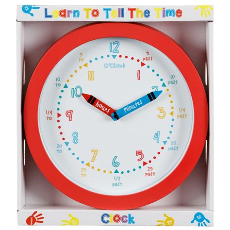 Time To Tell The learn to tell the time clock home decor b m stores