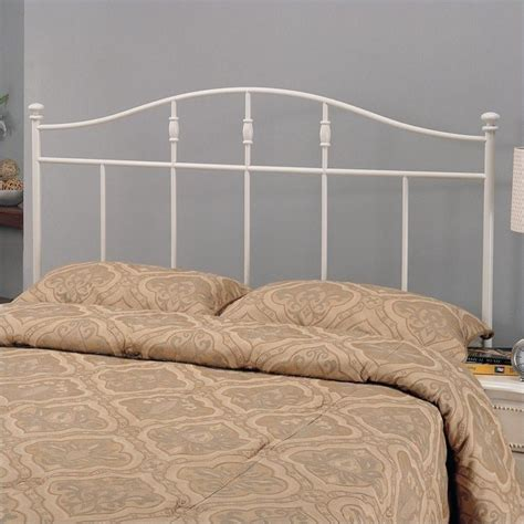 White Iron Headboard by Coaster Metal Cottage White Headboard Ebay