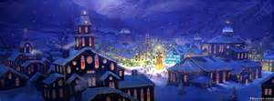 christmas beautiful village facebook cover photo fbcovercom