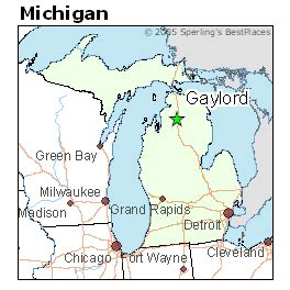 Gaylord Michigan Map by Best Places To Live In Gaylord Michigan