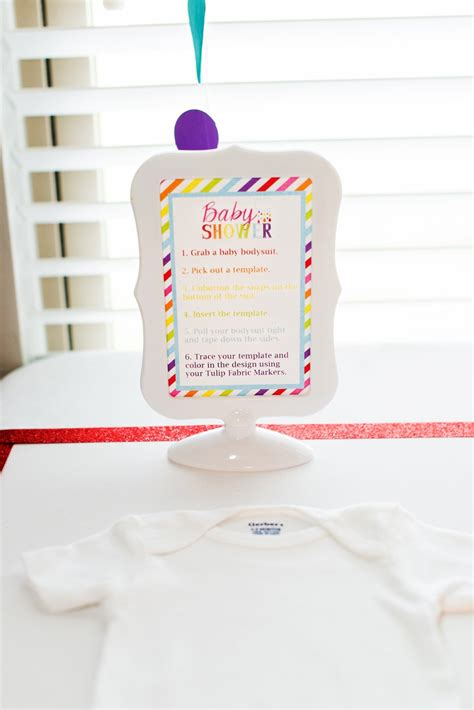 Onesie Baby Shower by Gerber 174 Onesies 174 Baby Shower Station With Tulip Fabric