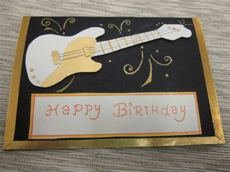 Guitar Cards - yuenie s fancies handmade quilled pop up cards