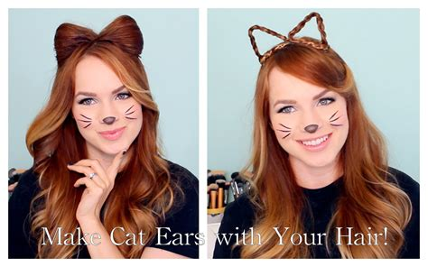 How To Make Hair Stay Behind Your Ear | 2 ways to make cat ears with your hair youtube