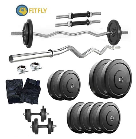 Barbel Dumble Fitnes 3 Kg buy fitfly home set with 26 kg weight 3ft curl rod dumbbells rod gloves in india