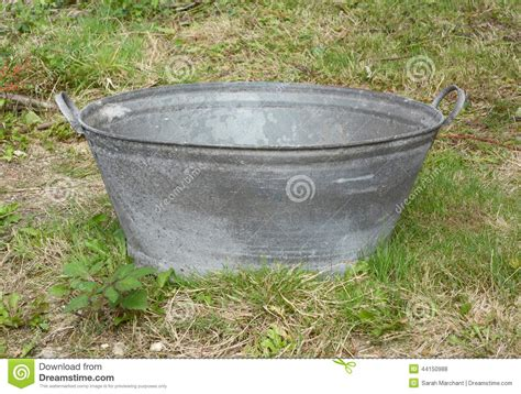 empty tin bath stock photo image 44150988