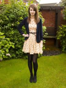 inspiration spot dress and opaque tights www thestylinguist blogspot co uk