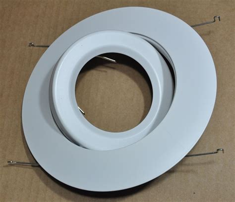 can light trim rings 6 quot inch par30 adjustable gimbal ring trim white recessed