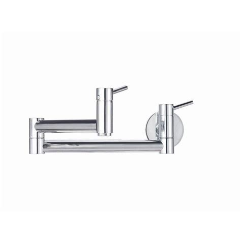 Wall Mount Kitchen Faucet Lowes Shop Blanco Cantata Chrome 1 Handle Handle Wall Mount Pot Filler Kitchen Faucet At Lowes