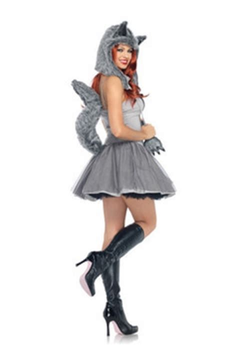 Costume Sleep Wear Import T1310 3 grey clawdeen wolf costume wolf costume for