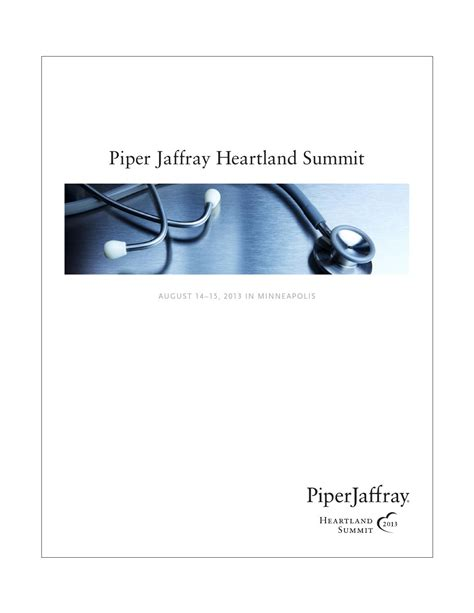 Piper Jaffray Investment Banking Associate Mba by Heartland Summit Book 2013 By Piper Jaffray Issuu