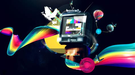 image gallery wallpaper tv abstraction colors tv 3d radio wallpaper wallpapers new