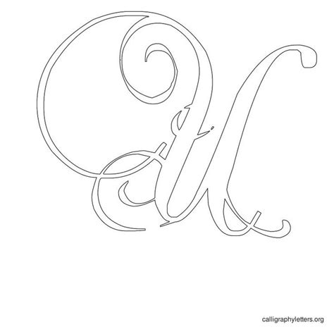 printable calligraphy stencils calligraphy letter stencil u quilling pinterest