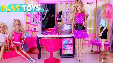 cutting hair games barbie barbie hair salon toys play baby doll hair cut wash