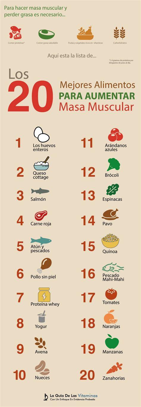 los  mejores alimentos  aumentar  muscular