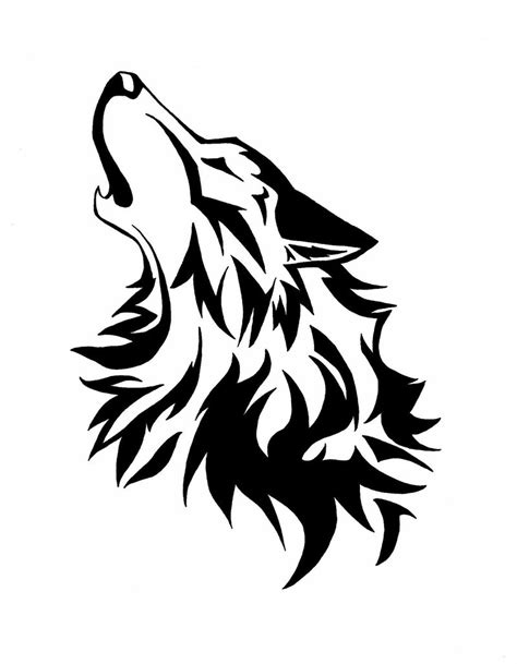 howling wolf tribal tattoo commision howling wolf by wolfsouled free images at