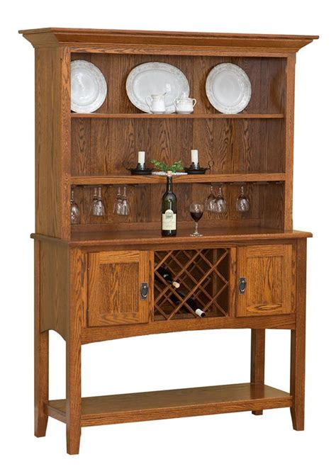 Sideboard With Hutch amish mission sideboard with hutch top