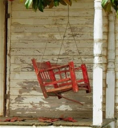 old porch swing red porch swing at old farm house outdoor living