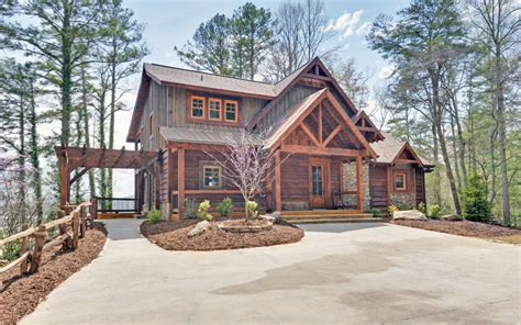 mountain view log cabins for sale