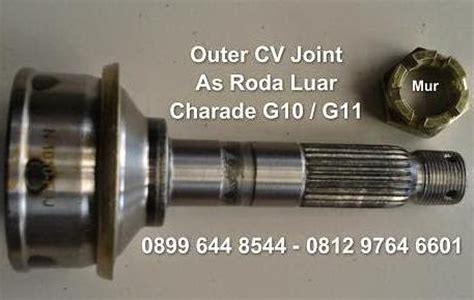 As Roda Luar Cv Joint Charade G10 G11 sparepart mobil daihatsu charade outer cv joint as roda