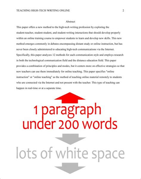 apa abstract page template format the abstract page in apa style 6th edition
