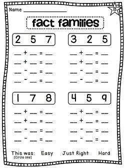 first grade information families of fact 88 best fact family images on pinterest math activities