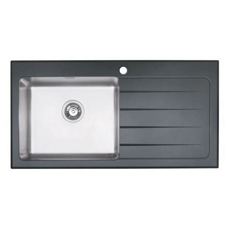 Glass Kitchen Sinks Bluci Kubevetro 1 0 Bowl Black Glass Sink Sinks Taps