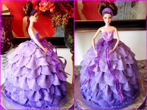 Barbie Doll Fondant Dress Cake (Slide Show)   YouTube
