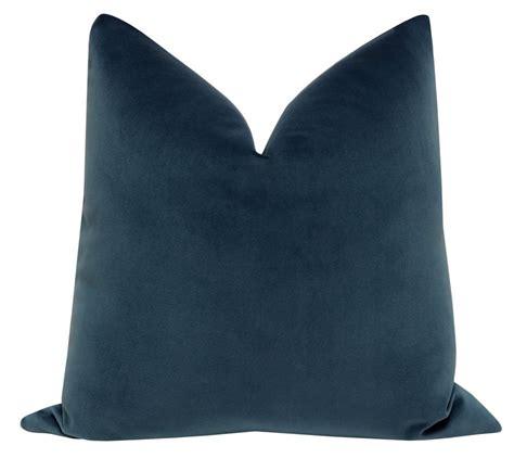 signature velvet prussian blue throw pillow cover