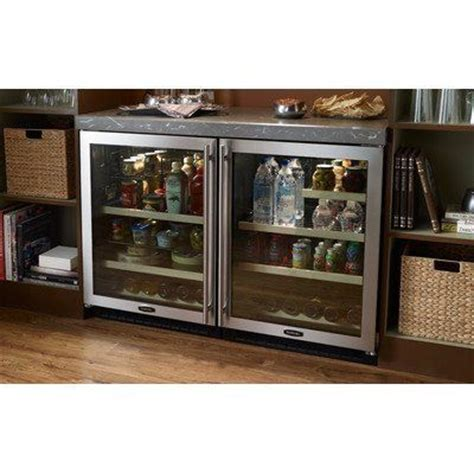 24 quot wine and beverage cooler finish black cabinet with